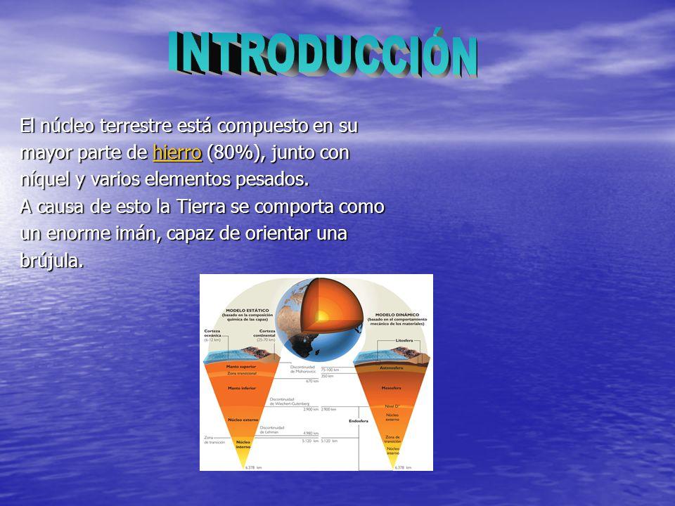 INTRODUCCIÓN El núcleo terrestre está compuesto en su