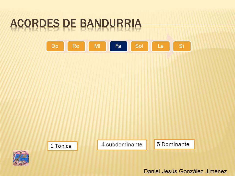 Acordes de bandurria 4 subdominante 5 Dominante 1 Tónica