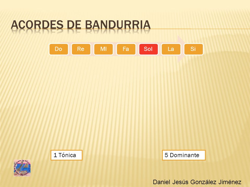 Acordes de bandurria 1 Tónica 5 Dominante
