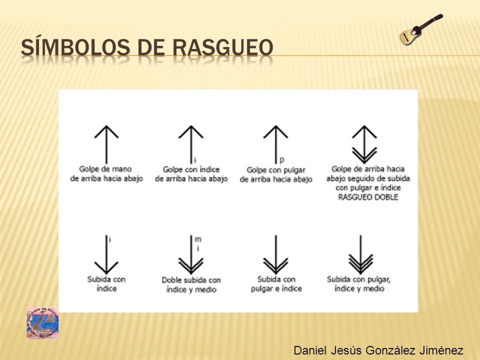 Símbolos de rasgueo Simbolos de rasgueo Daniel Jesús González Jiménez