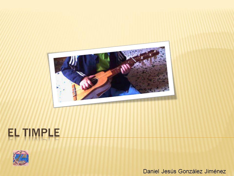 Portada El timple Daniel Jesús González Jiménez
