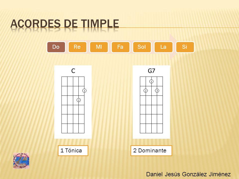 Acordes de timple 1 Tónica 2 Dominante Daniel Jesús González Jiménez
