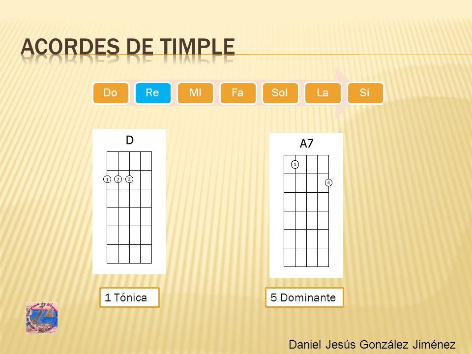 Acordes de timple 1 Tónica 5 Dominante Daniel Jesús González Jiménez