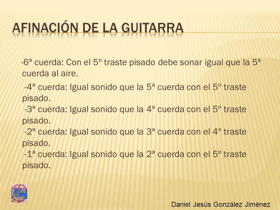 Afinación de la guitarra