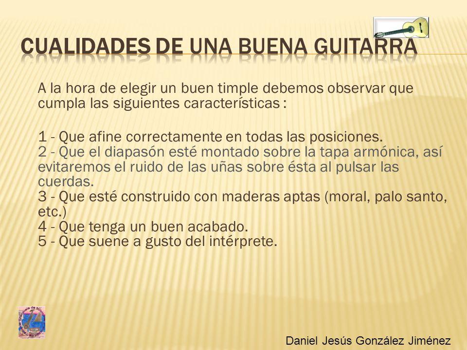 CUALIDADES DE una buena guitarra