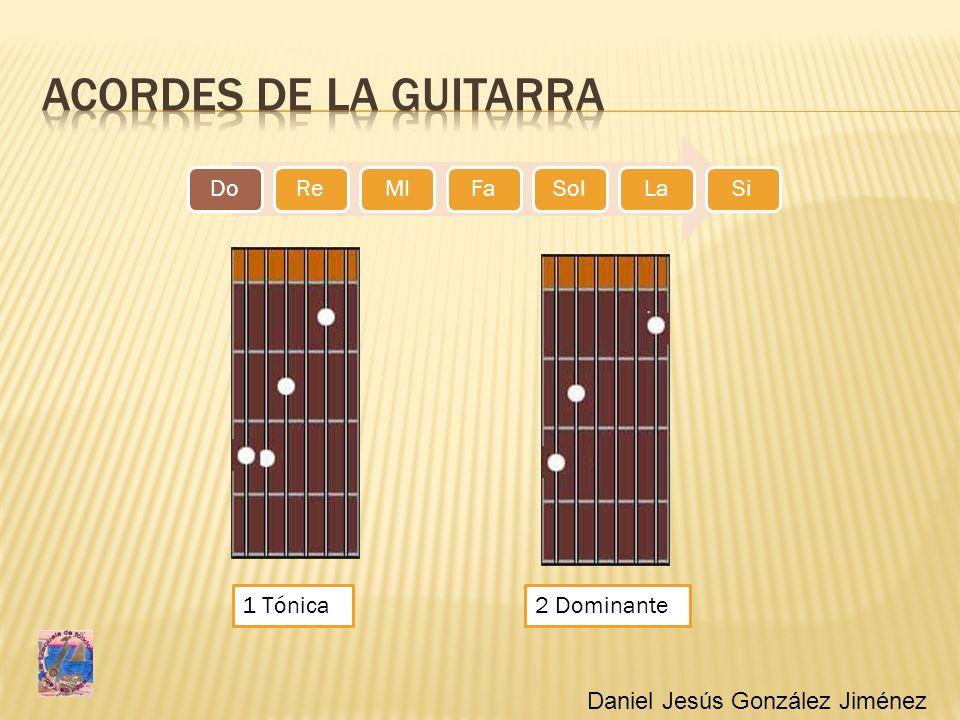 Acordes de la guitarra 1 Tónica 2 Dominante