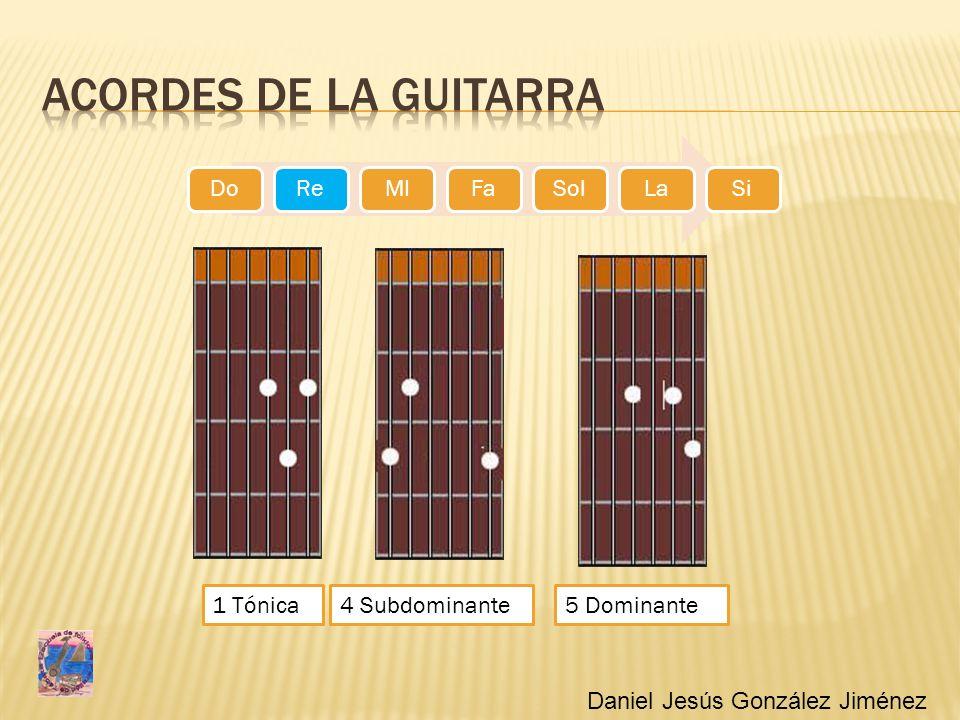 Acordes de la guitarra 1 Tónica 4 Subdominante 5 Dominante