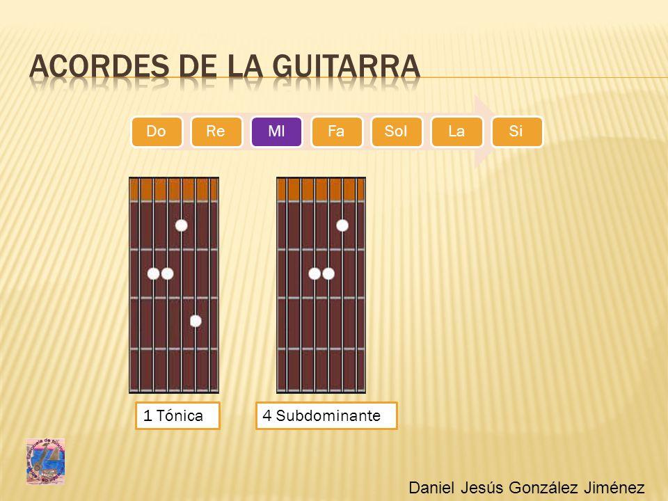 Acordes de la guitarra 1 Tónica 4 Subdominante