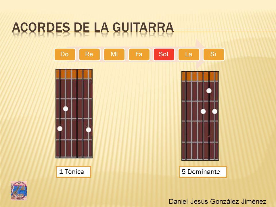 Acordes de la guitarra 1 Tónica 5 Dominante