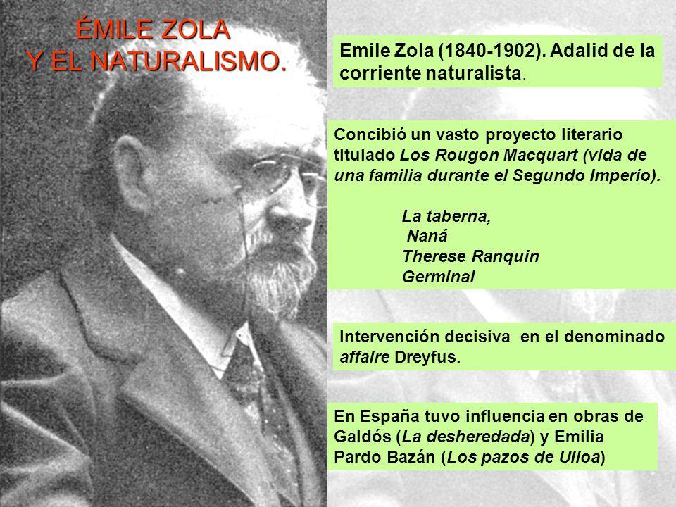 ÉMILE ZOLA Y EL NATURALISMO.