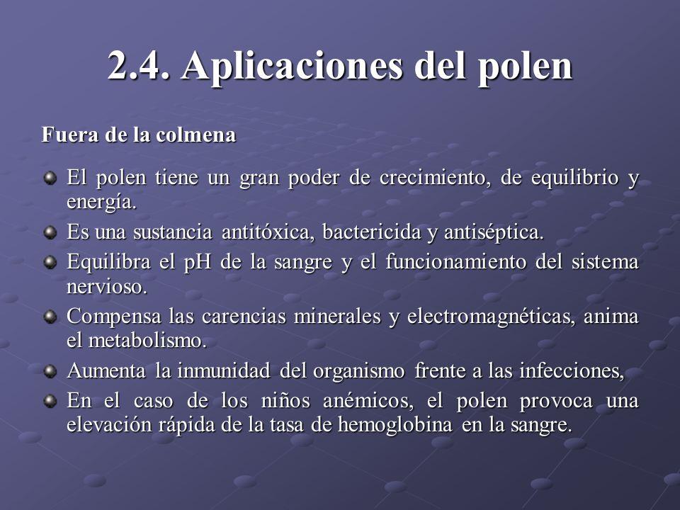 2.4. Aplicaciones del polen
