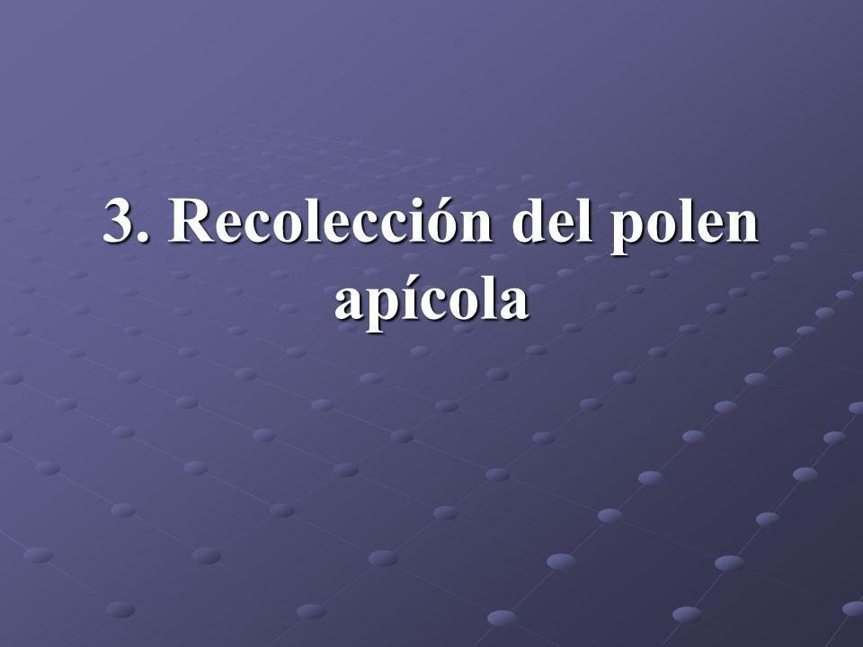 3. Recolección del polen apícola
