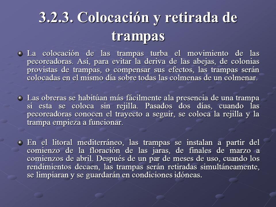 3.2.3. Colocación y retirada de trampas