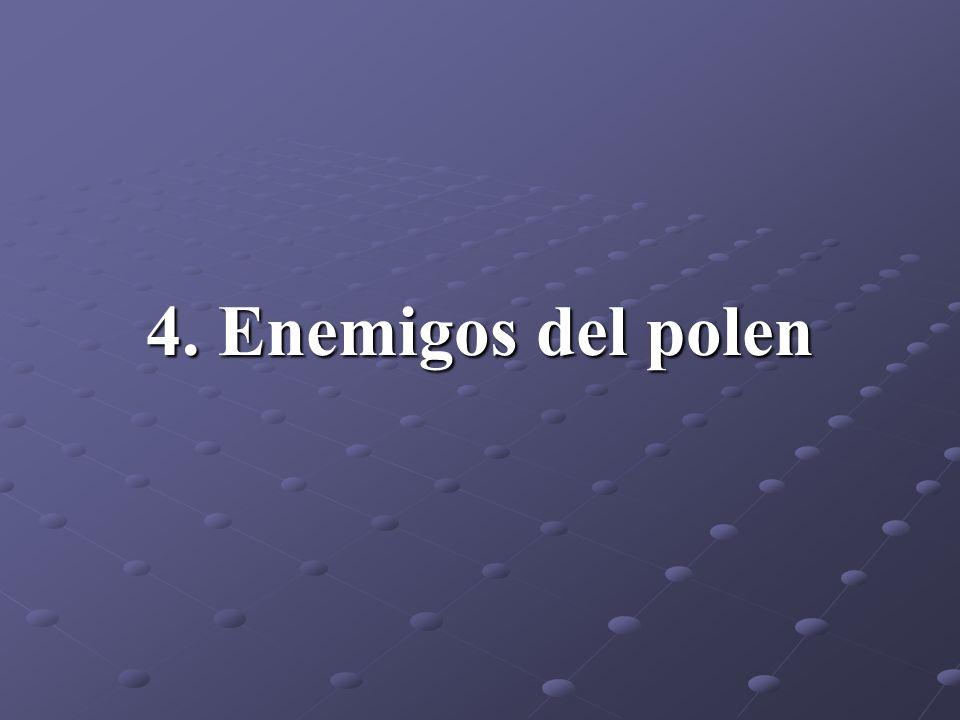 4. Enemigos del polen