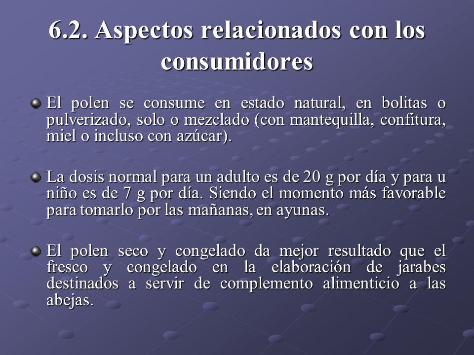 6.2. Aspectos relacionados con los consumidores