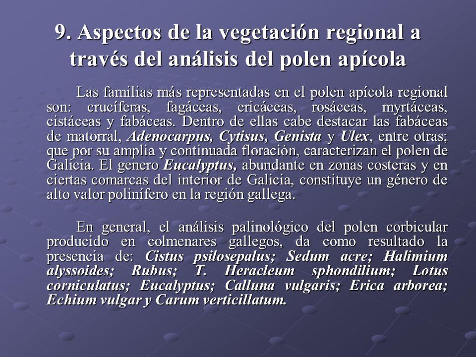 9. Aspectos de la vegetación regional a través del análisis del polen apícola