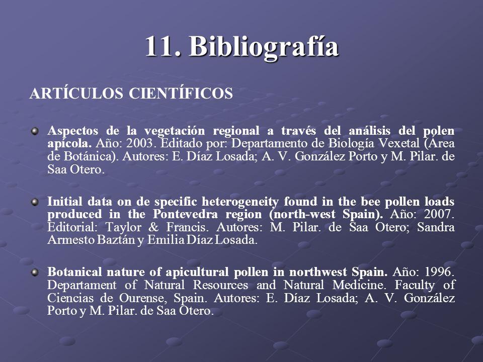 11. Bibliografía ARTÍCULOS CIENTÍFICOS
