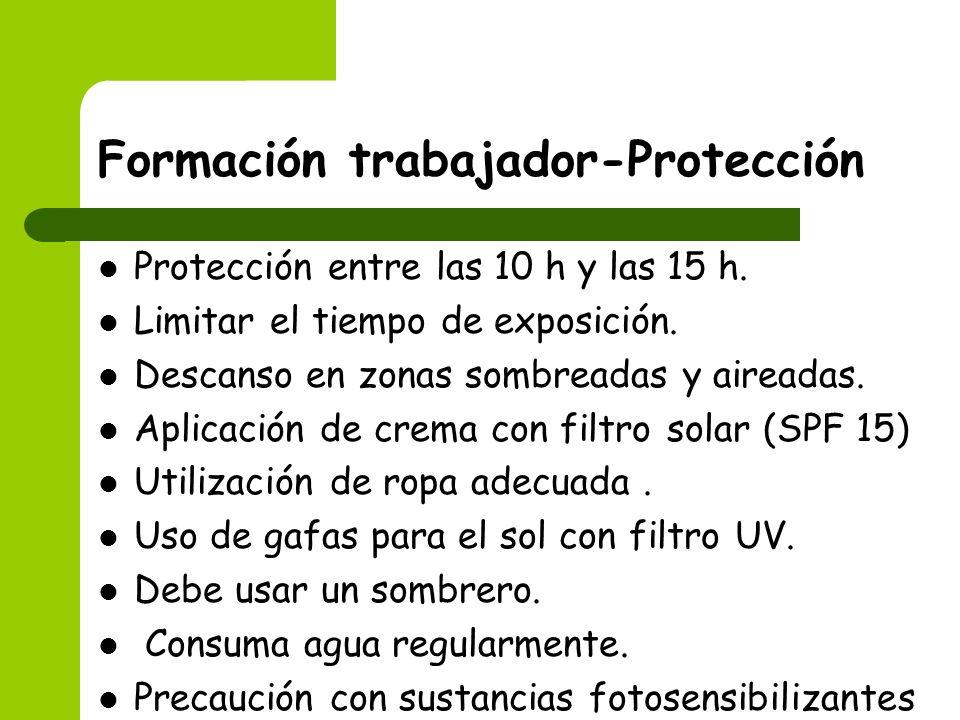 Formación trabajador-Protección