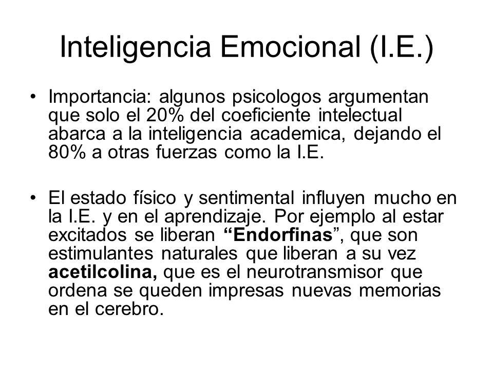 Inteligencia Emocional (I.E.)