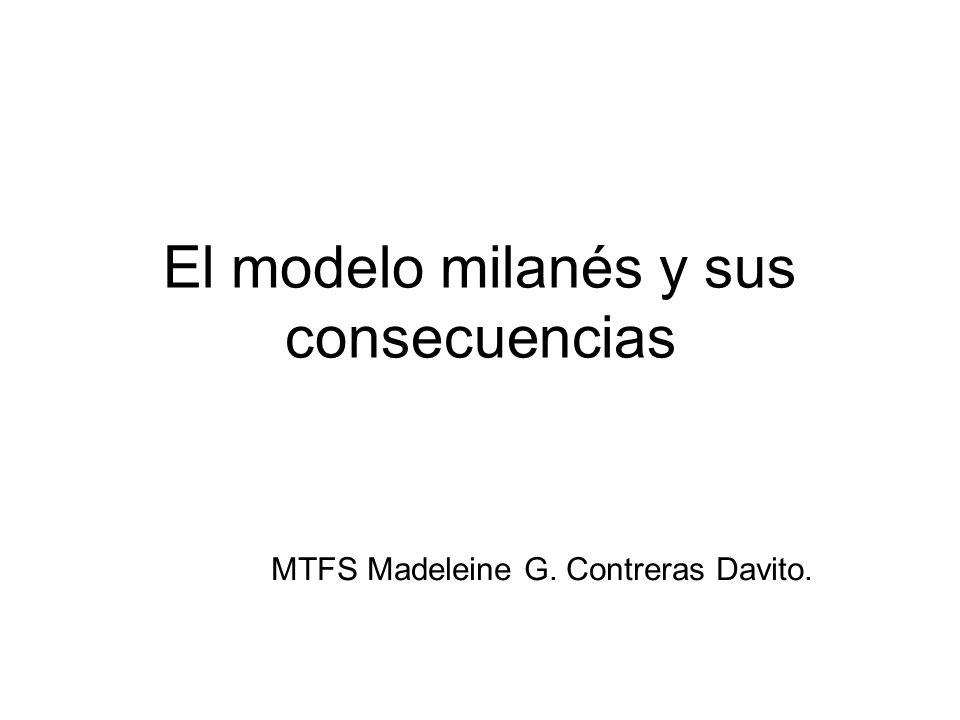 El modelo milanés y sus consecuencias