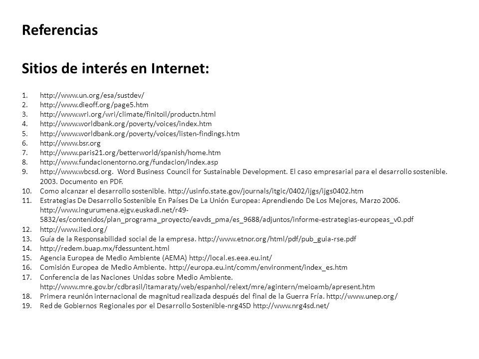 Sitios de interés en Internet: