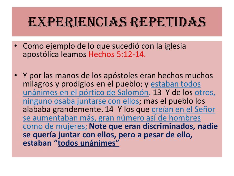 Experiencias repetidas