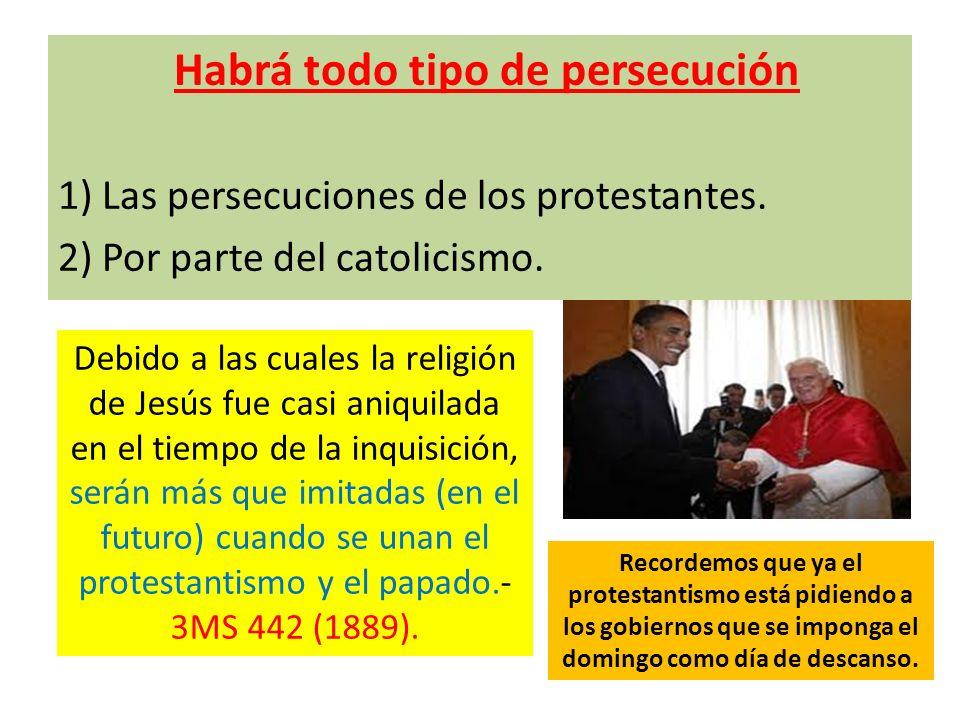 Habrá todo tipo de persecución