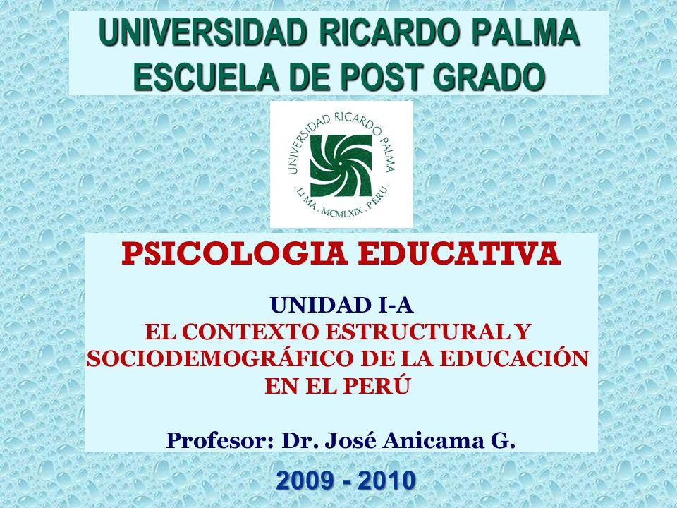 UNIVERSIDAD RICARDO PALMA ESCUELA DE POST GRADO