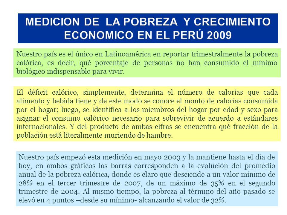 MEDICION DE LA POBREZA Y CRECIMIENTO ECONOMICO EN EL PERÚ 2009