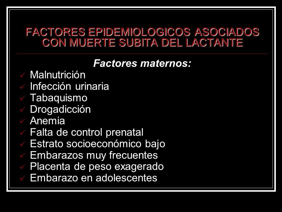 FACTORES EPIDEMIOLOGICOS ASOCIADOS CON MUERTE SUBITA DEL LACTANTE