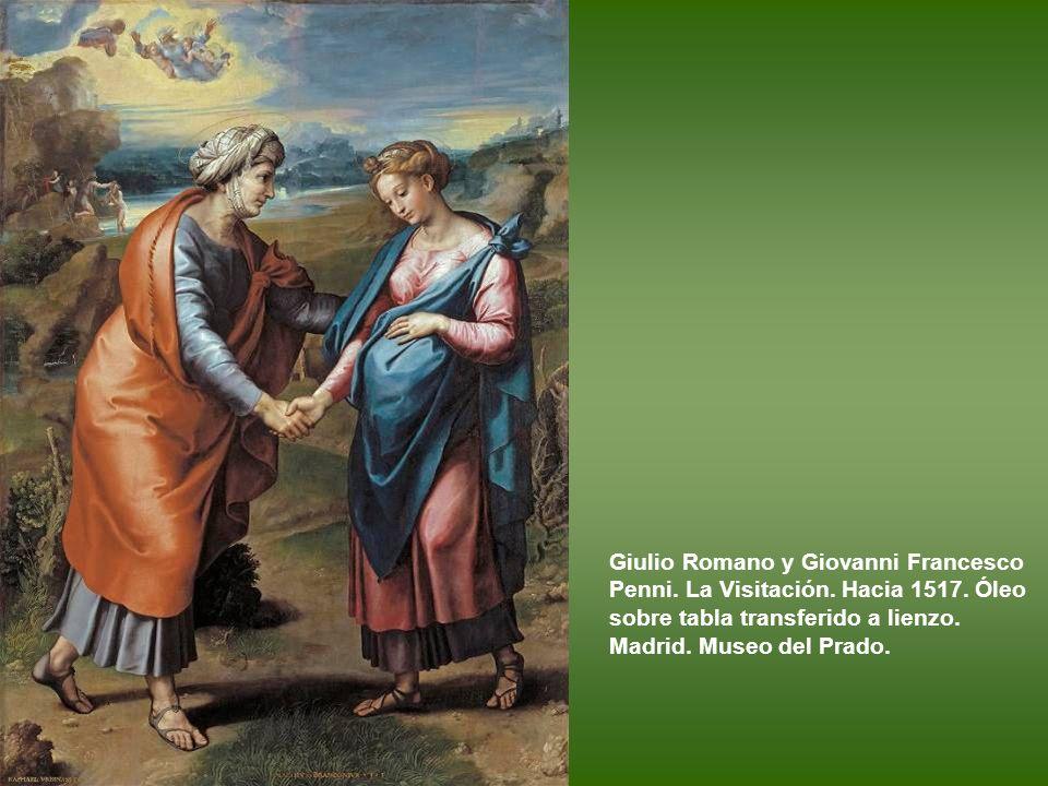Giulio Romano y Giovanni Francesco Penni. La Visitación. Hacia 1517