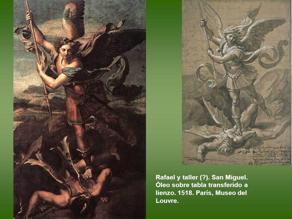 Rafael y taller ( ). San Miguel. Óleo sobre tabla transferido a lienzo.