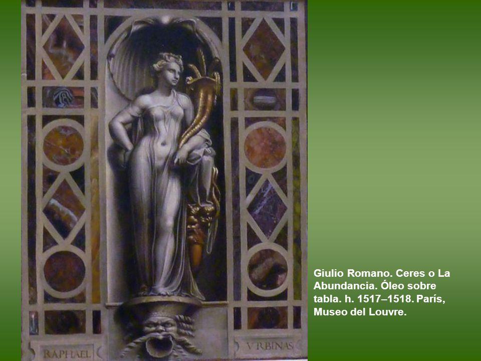 Giulio Romano. Ceres o La Abundancia. Óleo sobre tabla. h. 1517–1518