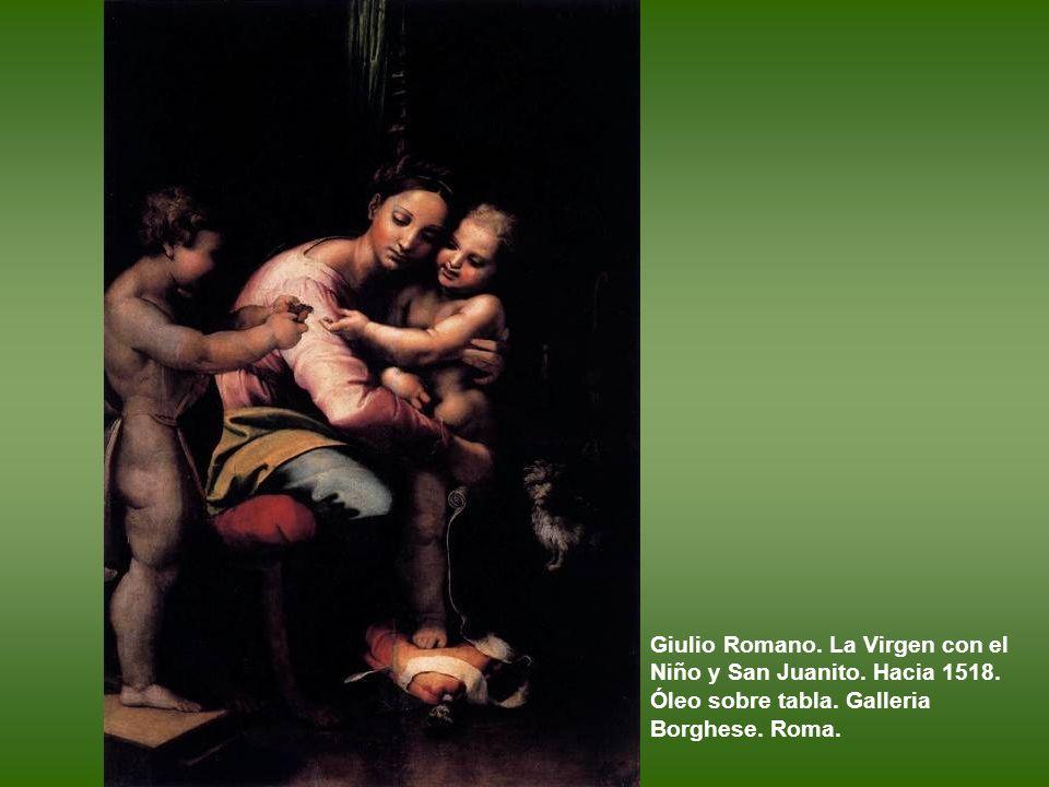 Giulio Romano. La Virgen con el Niño y San Juanito. Hacia 1518