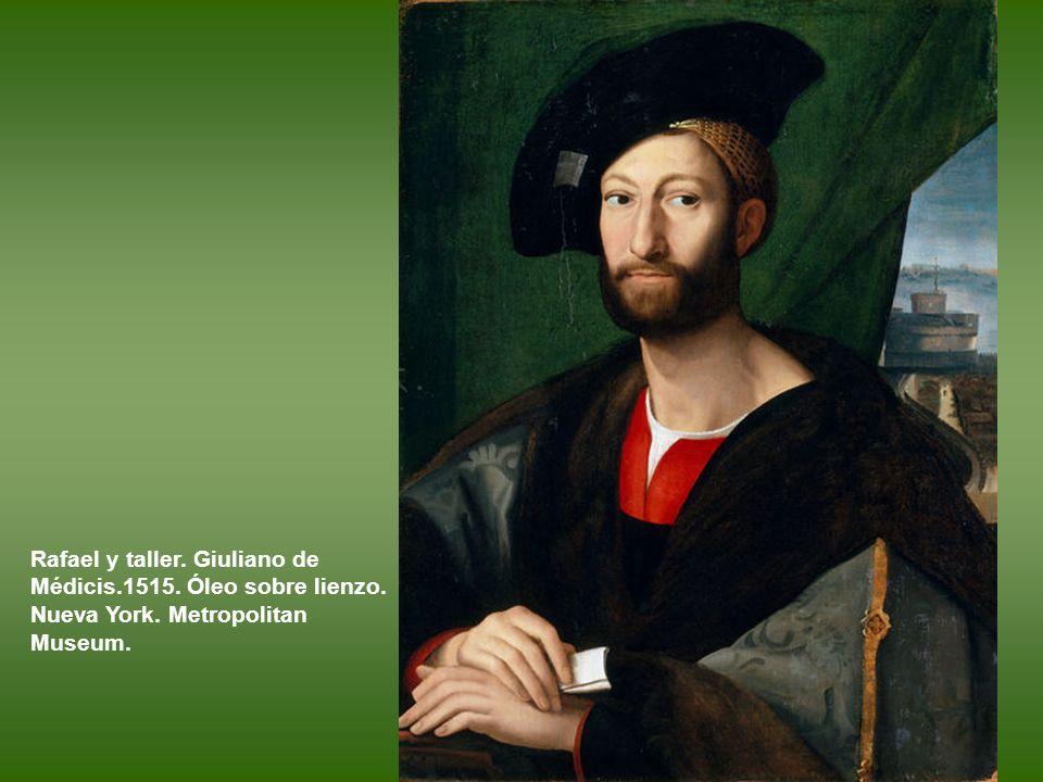 Rafael y taller. Giuliano de Médicis. 1515. Óleo sobre lienzo