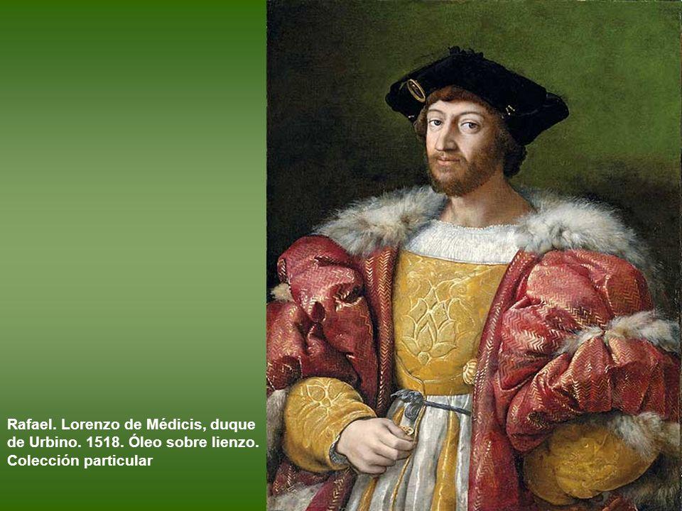 Rafael. Lorenzo de Médicis, duque de Urbino. 1518. Óleo sobre lienzo