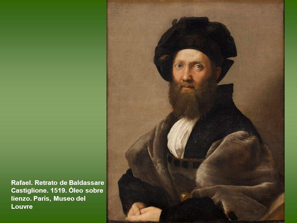 Rafael. Retrato de Baldassare Castiglione. 1519. Óleo sobre lienzo