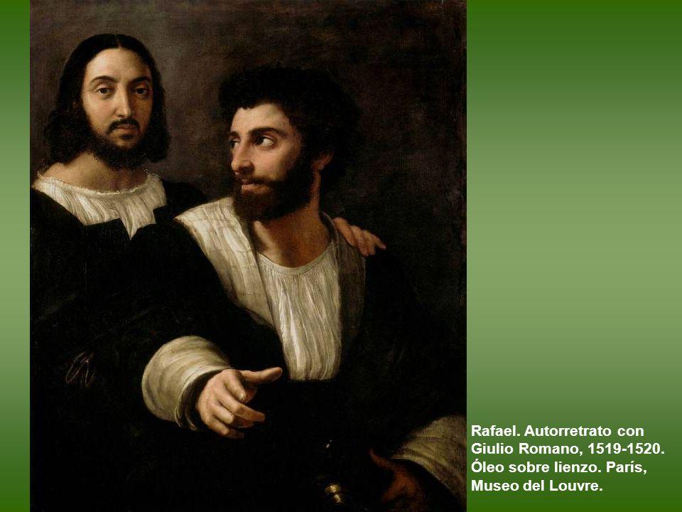 Rafael. Autorretrato con Giulio Romano, 1519-1520. Óleo sobre lienzo