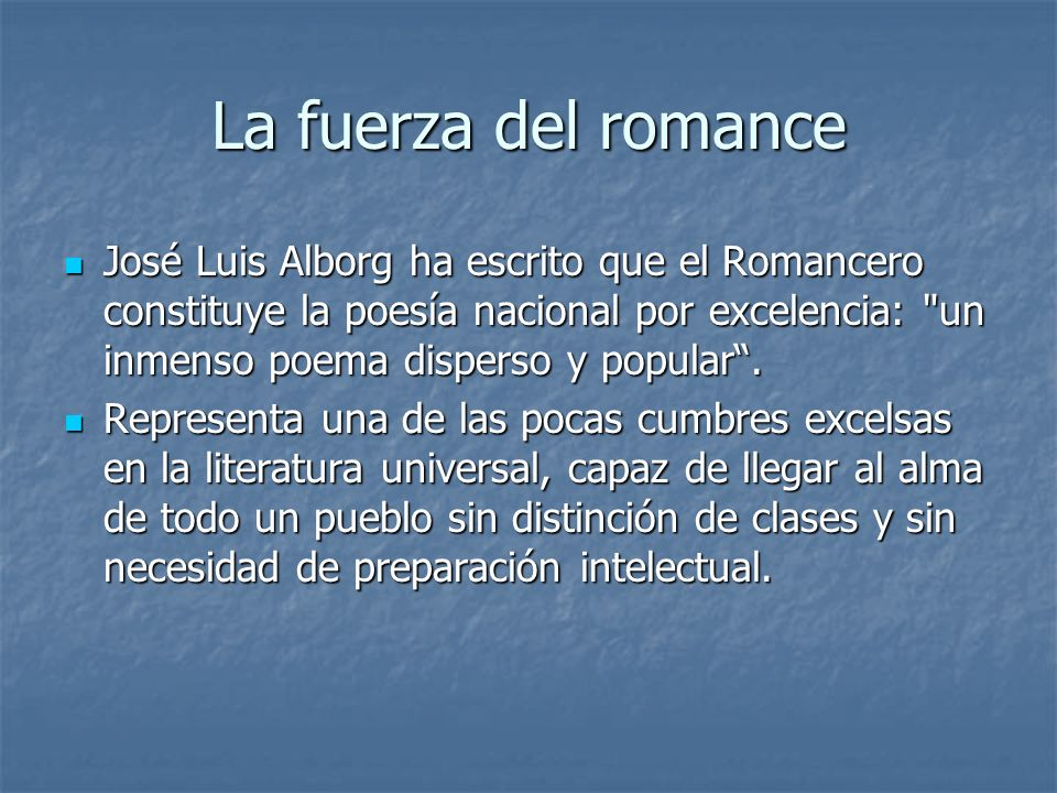 La fuerza del romance