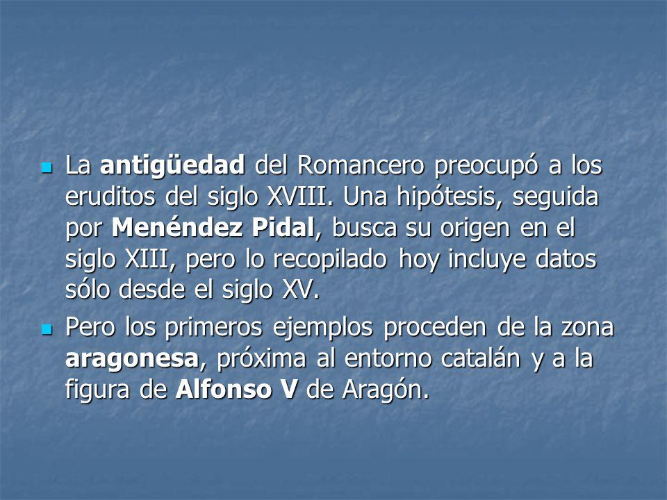 La antigüedad del Romancero preocupó a los eruditos del siglo XVIII