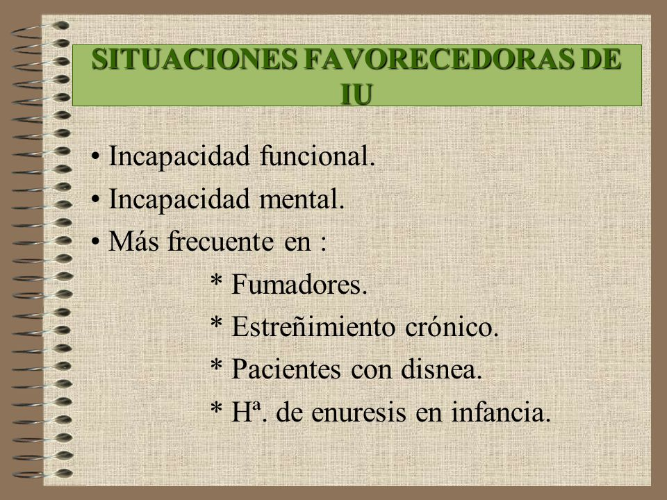 SITUACIONES FAVORECEDORAS DE IU