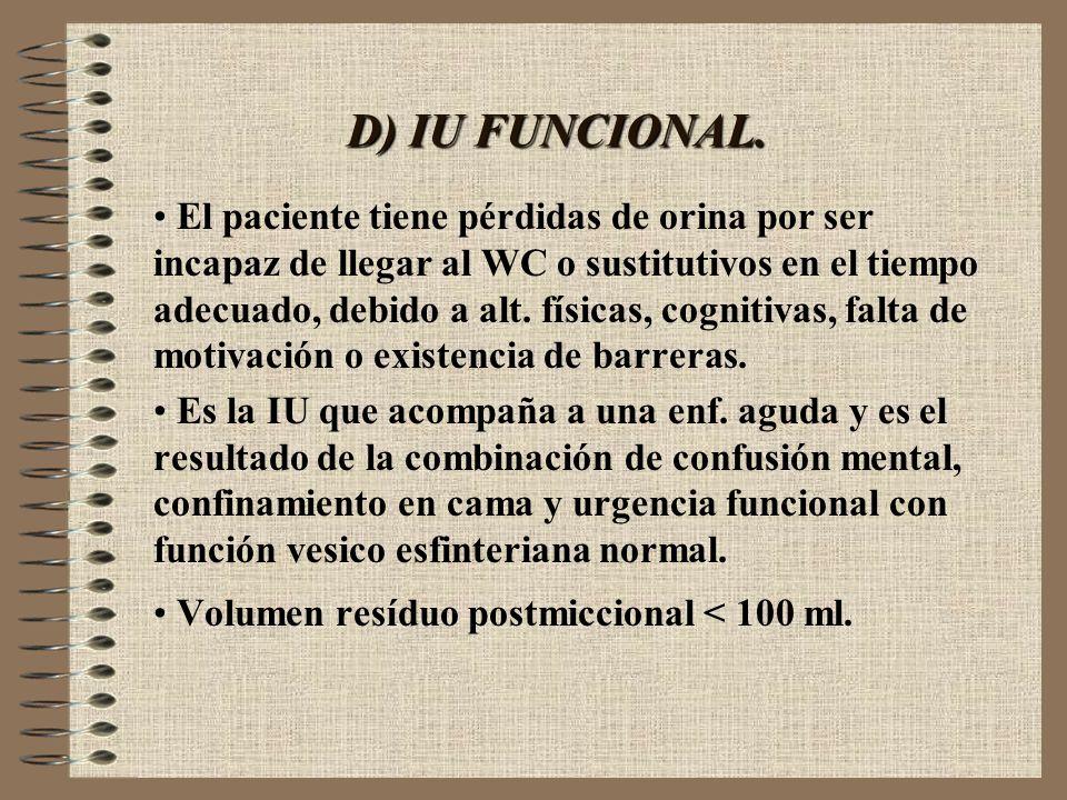 D) IU FUNCIONAL.
