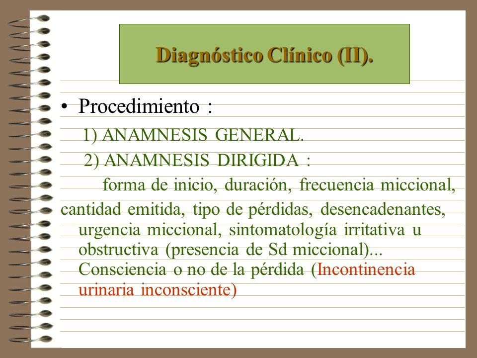 Diagnóstico Clínico (II).