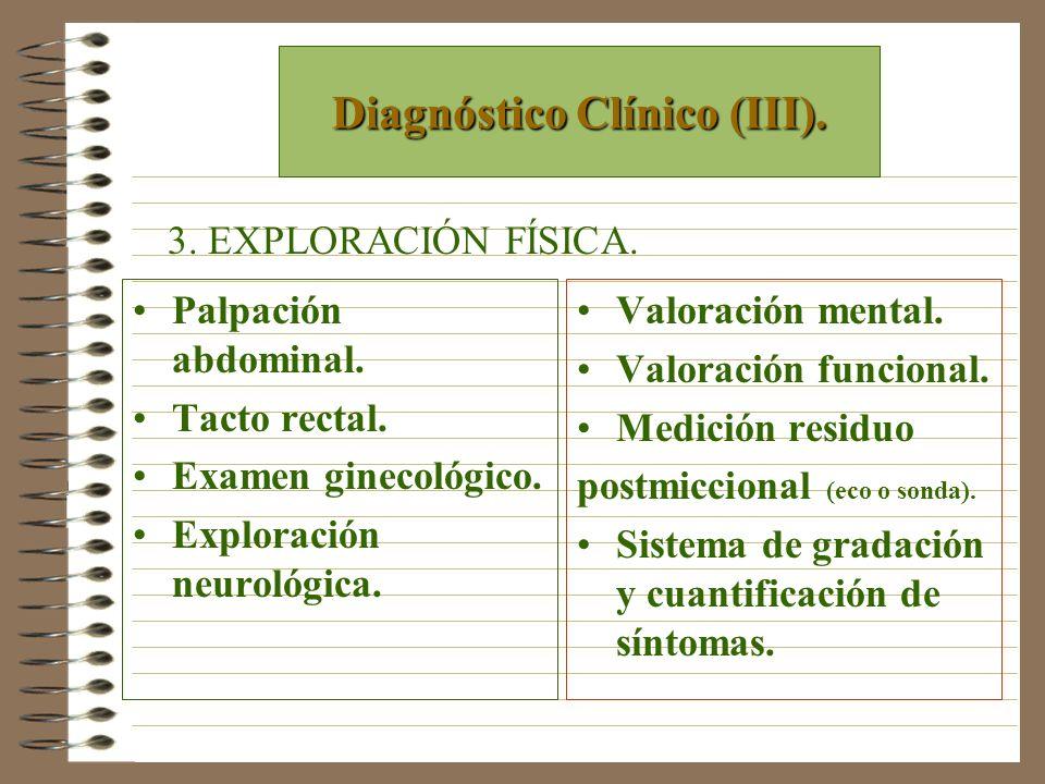 Diagnóstico Clínico (III).