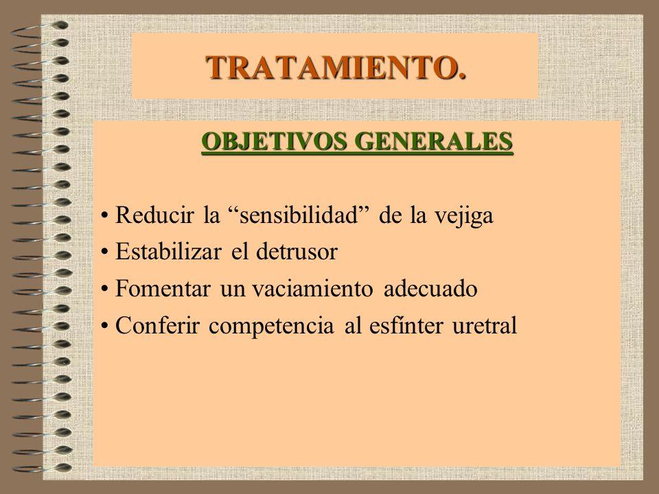 TRATAMIENTO. OBJETIVOS GENERALES