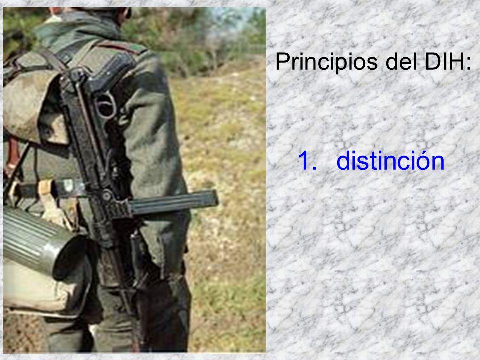 Principios del DIH: distinción