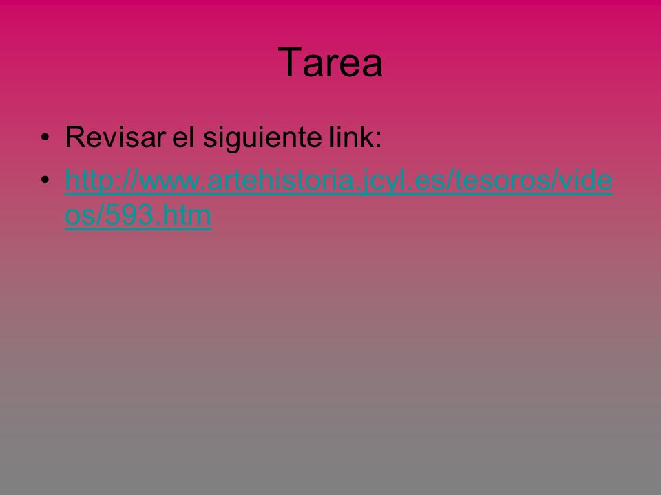 Tarea Revisar el siguiente link: