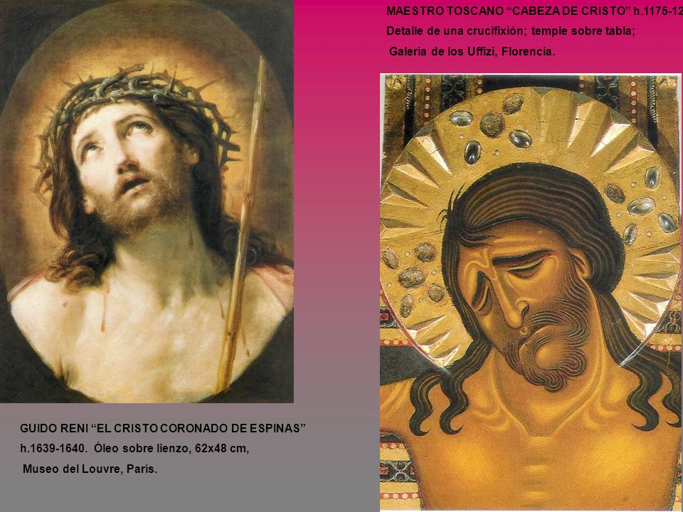 MAESTRO TOSCANO CABEZA DE CRISTO h.1175-1225.