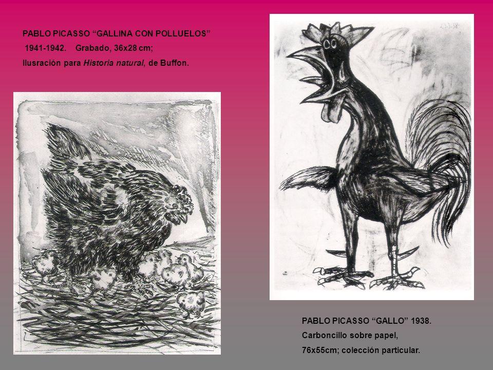 PABLO PICASSO GALLINA CON POLLUELOS