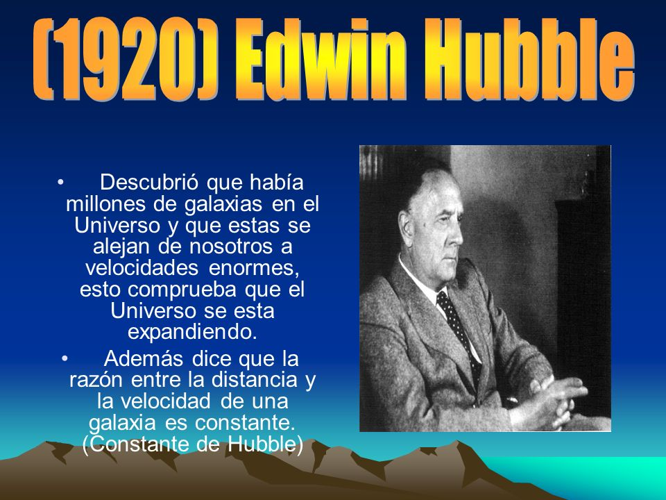(1920) Edwin Hubble